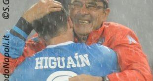 Higuain Sarri gol rovesciata Napoli-Frosinone