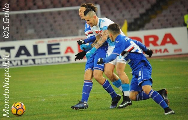 Sampdoria: un blucerchiato a rischio contro il Napoli