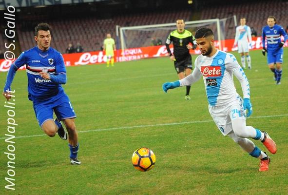 Moviola Napoli-Sampdoria: Di Bello, errore sul rosso a Silvestre