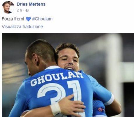 Infortunio Mertens, risentimento muscolare per il belga che potrebbe saltare il Chievo